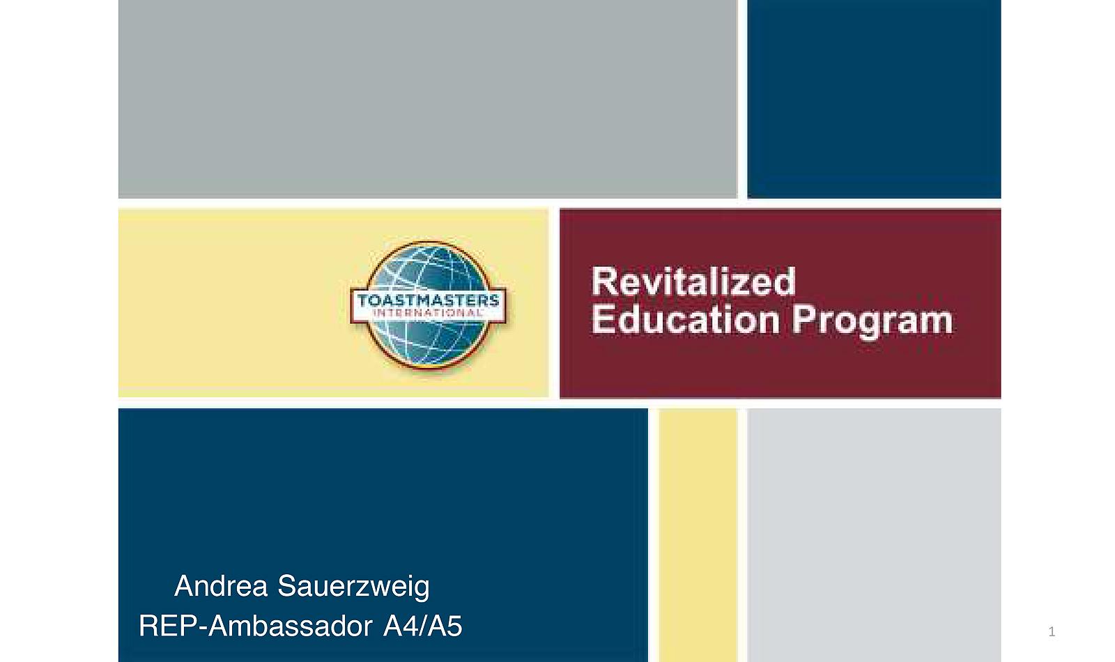 """Educational zum""""Revitalised Education Program"""""""