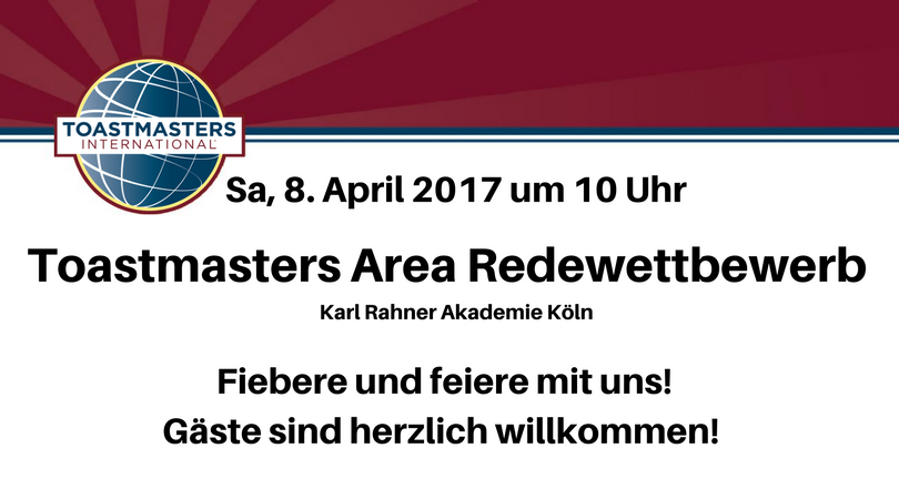 Toastmasters Area A5 Frühling-Wettbewerb 2017 in Köln
