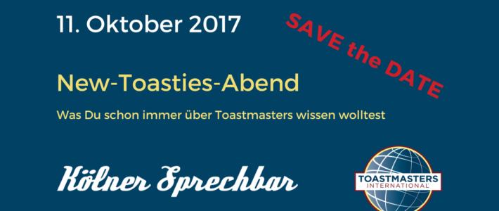 Was du schon immer über die Toastmasters wissen wolltest – Der New-Toasties Abend am 11.10.2017